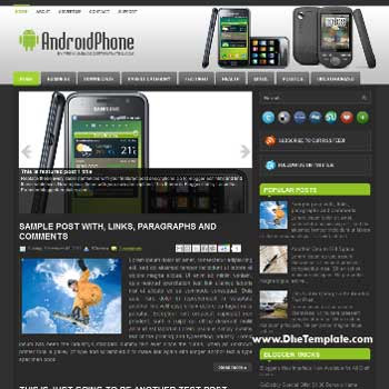 AndroidPhone blog template. template image slider blog. magazine blogger template style. blogger template for android blog