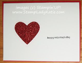 Valentine card made with red glimmer paper and Teeny Tiny Wishes. Could also be Anniversary or Wedding card.