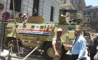 مدرعات الجيش تعود لشوارع الإسكندرية لتأمين المنشآت الحيوية والحكومية ؛ استعدادًا لتظاهرات يوم 30 يونيو