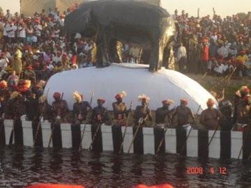 The Nalikwanda, boat of the Litunga