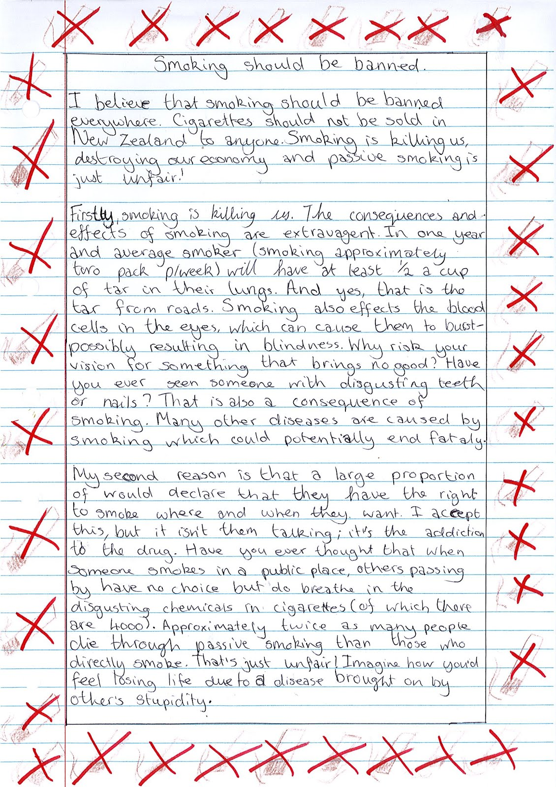 molly s learning blog 2012 persuasive writing smoking should be banned