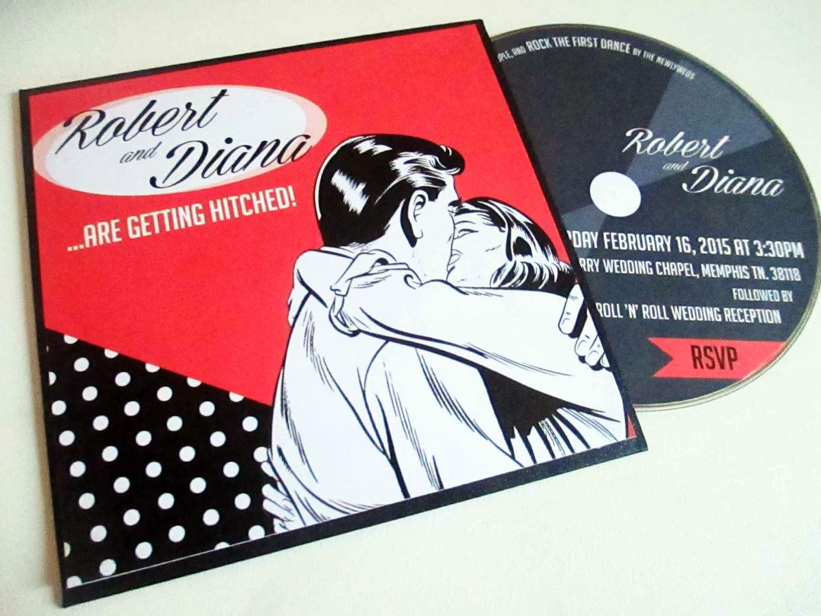 VanillaRetro Stationery Retro Rockabilly Wedding