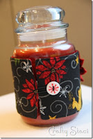 http://craftystaci.com/2013/12/11/quick-and-easy-giftcandle-jar-cozy/