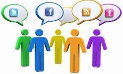 falando nas redes sociais