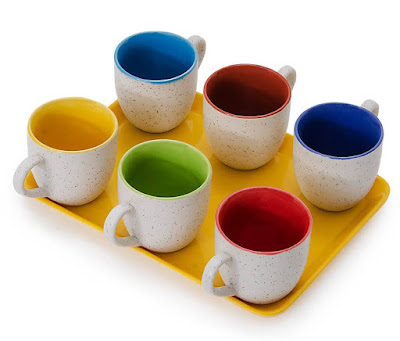 Somny Regular Tea Cups With Tray Just 294/-