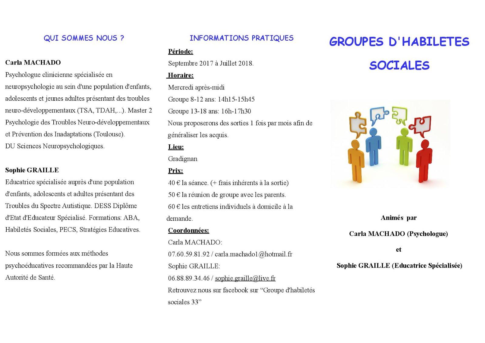 Groupes d'habiletés sociales