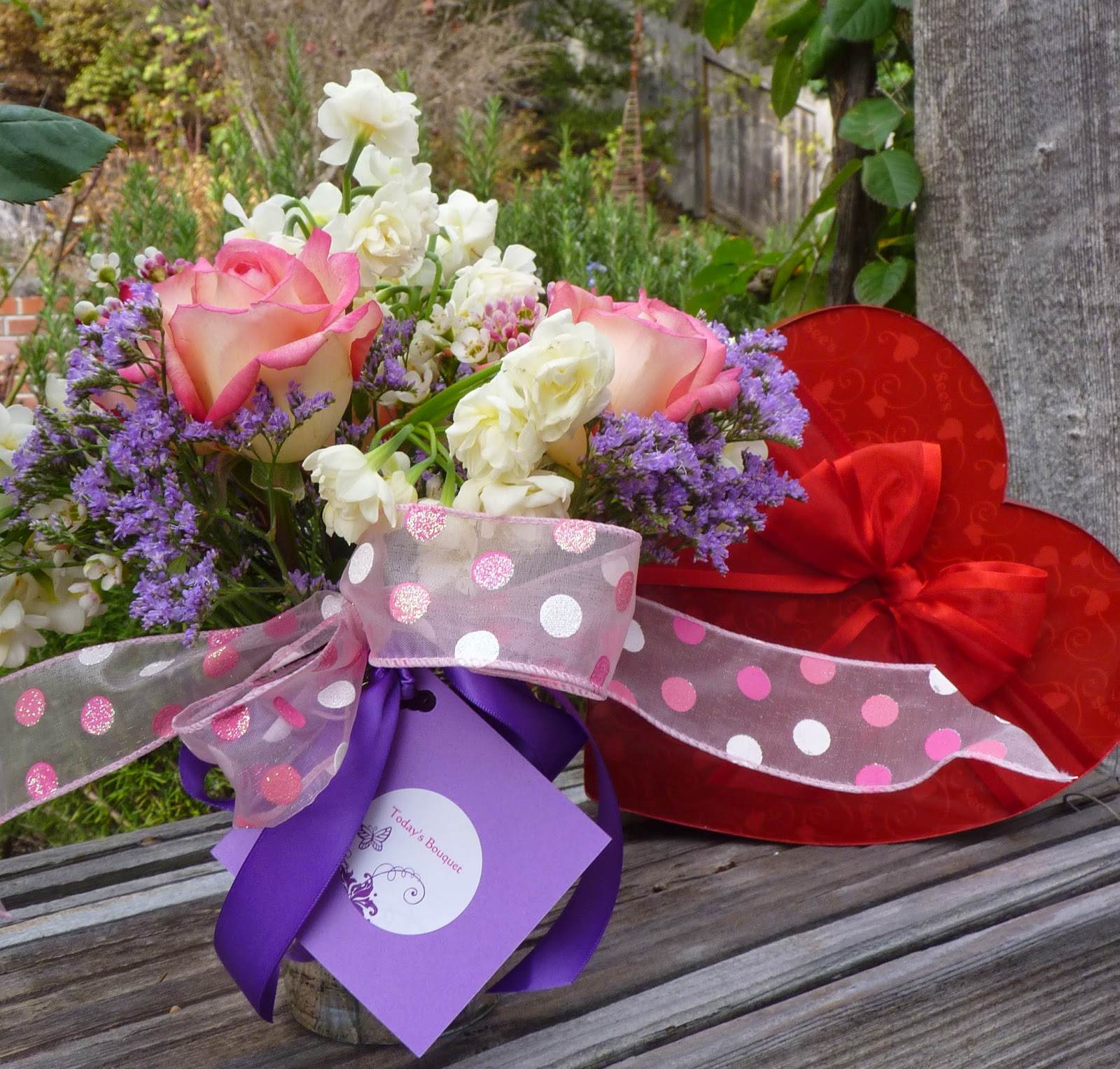 Todays bouquet commercial bouquets for valentines day typically are the standard cellophane izmirmasajfo