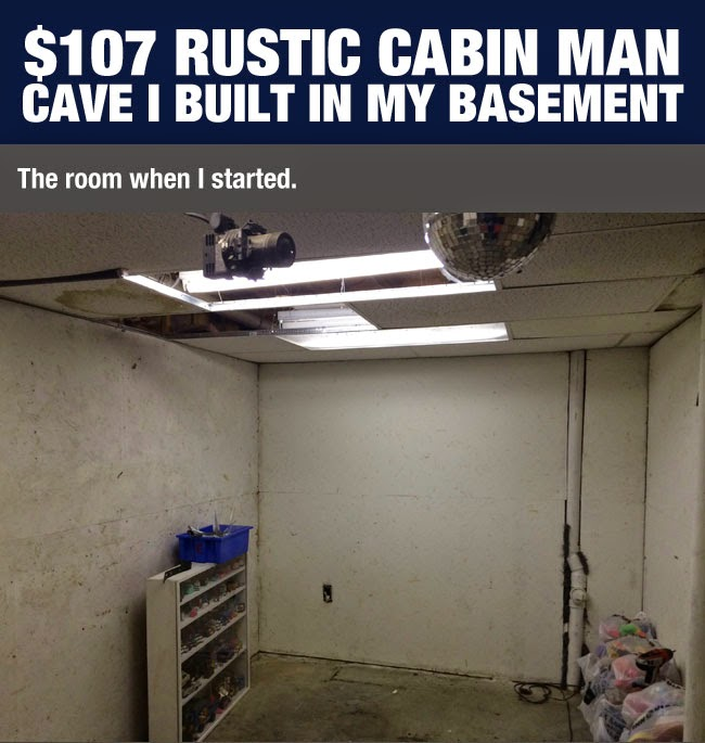 Rustic Man Cave Quotes : This guy transformed his old basement into awesomeness