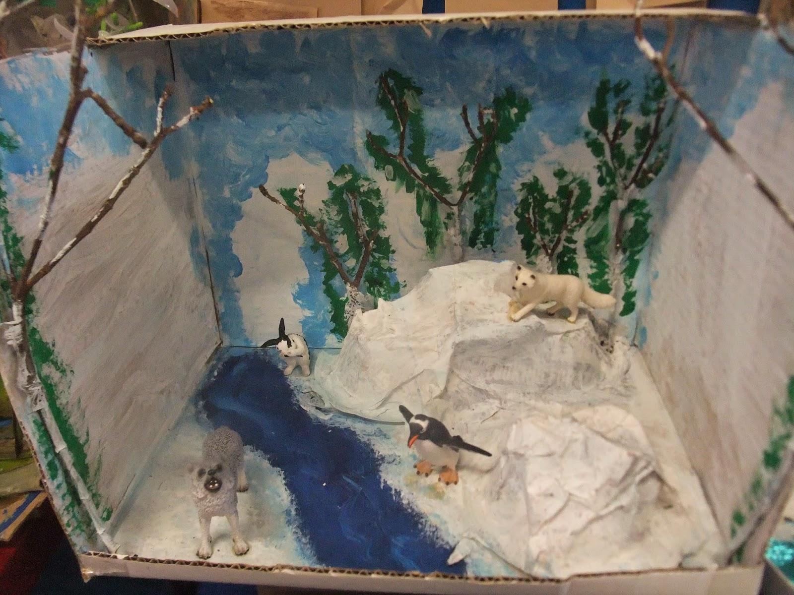 Arctic wolf diorama - photo#2