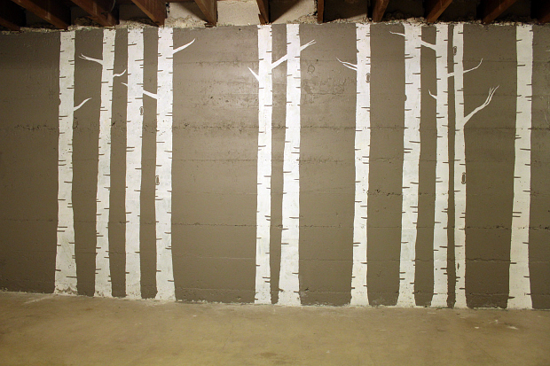 Young people in love diy birch tree forest mural for Diy birch tree mural