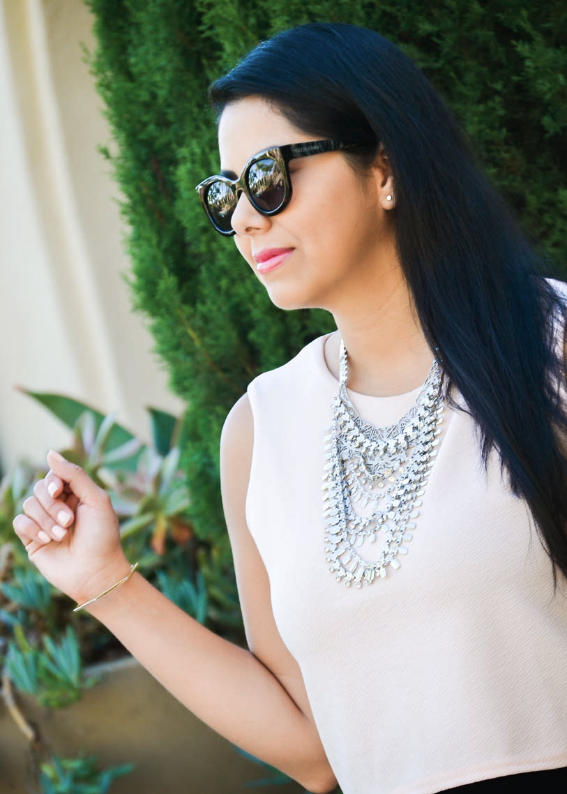 socal blogger, how to accessorize, statement necklace under $20, forever 21 statement necklace