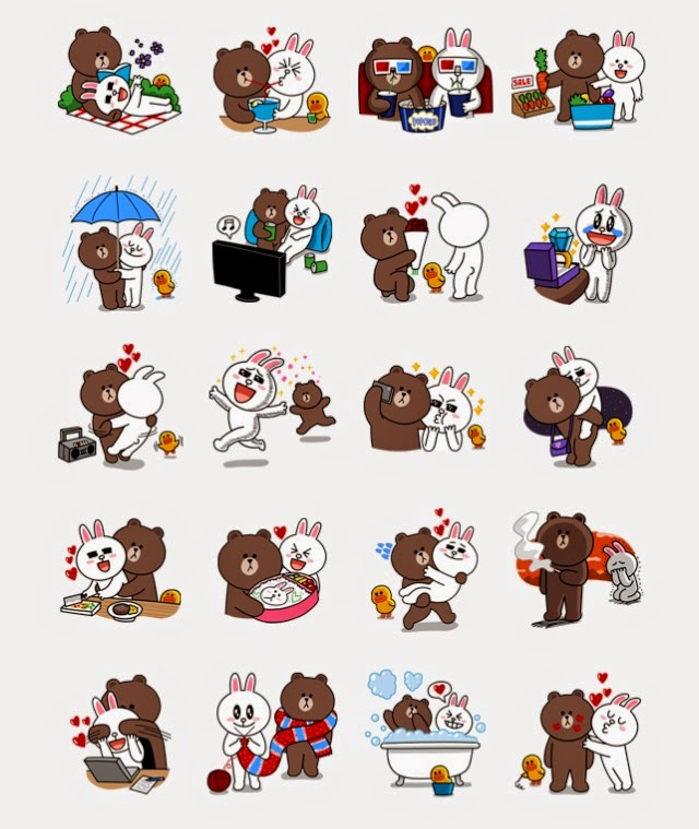 LINE Stickers Community: Free line sticker-Brown & Cony's ...