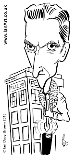 Peter Capaldi Dr Who caricature
