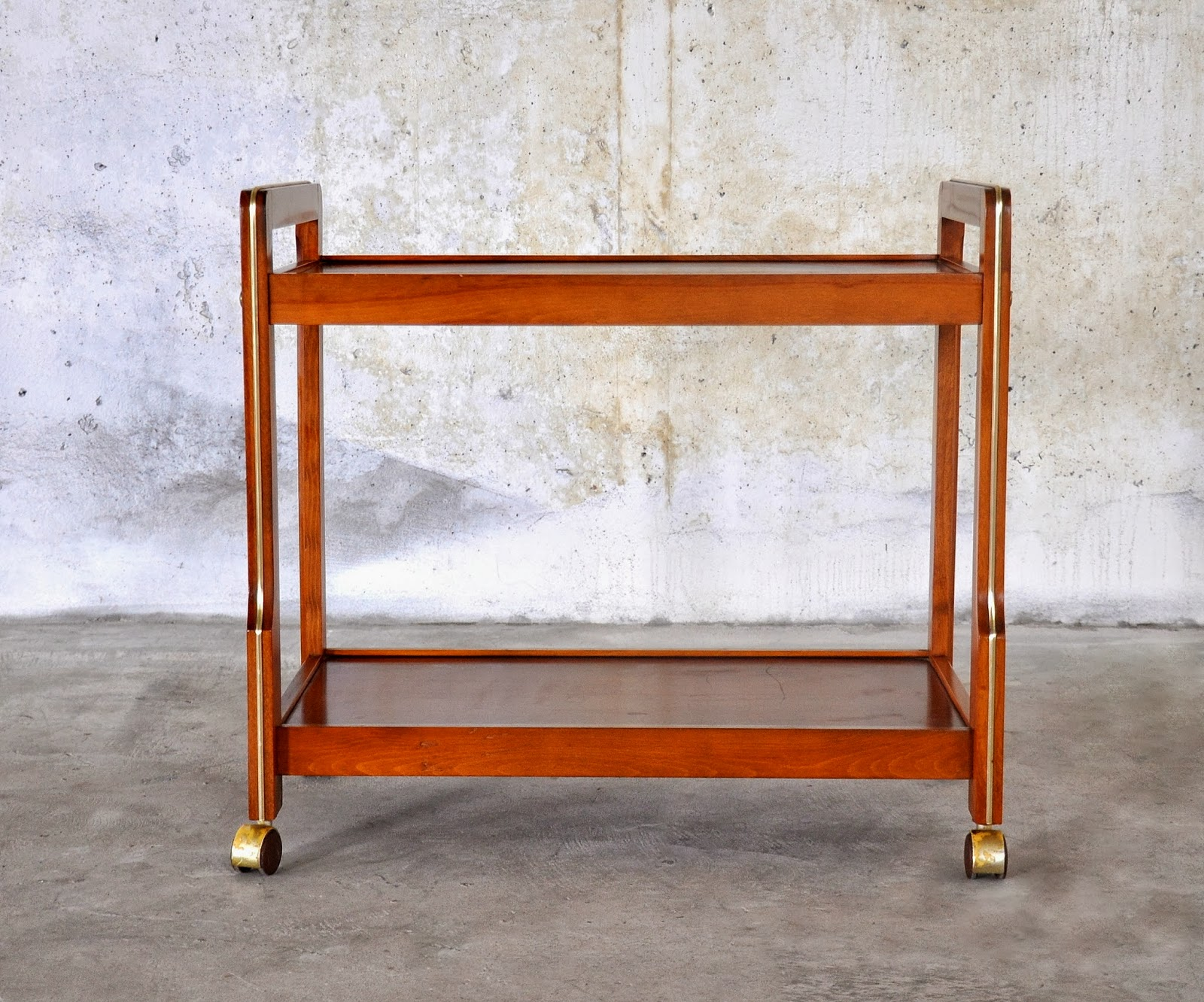 Select Modern Danish Modern Teak Rolling Bar Or Serving Cart