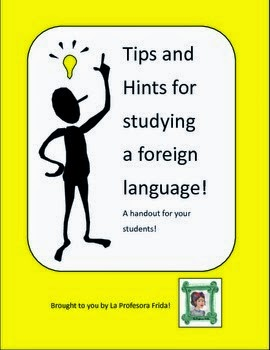 http://www.teacherspayteachers.com/Product/Tips-and-Hints-for-Studying-Spanish-Handout-149174