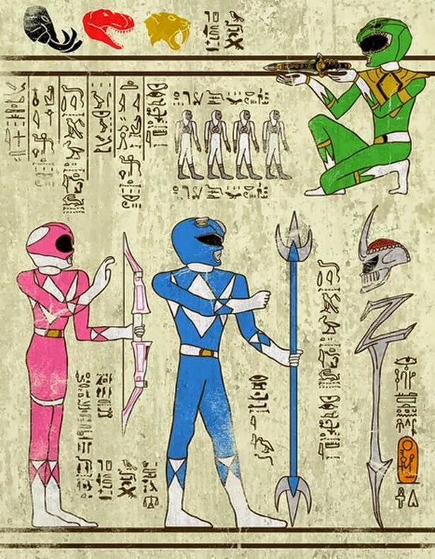 Jeroglifico Power Rangers