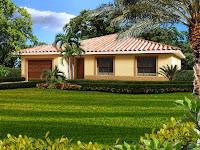 diseno de casa un piso con garaje y lindo jardin
