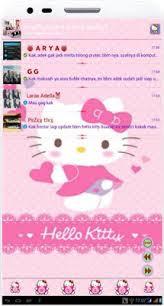 BBM Mod Hello Kitty V.3 By. Arzhella v2.8.0.21 Apk Android