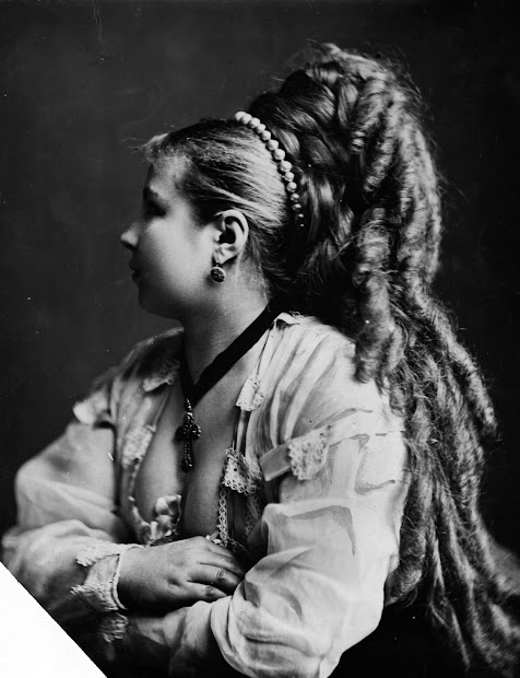 long hair victorian style 14 vintage