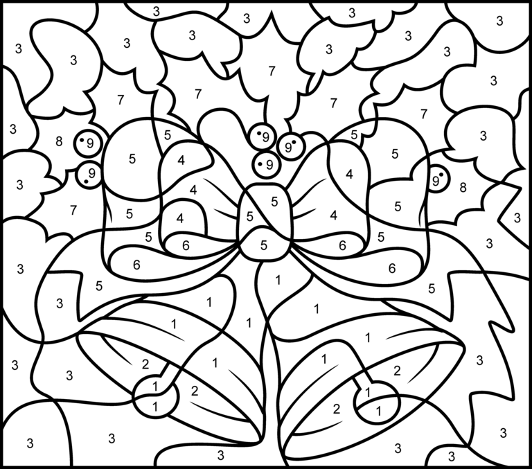 Number Coloring Pages Printable together with Color By Number Coloring ...