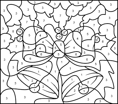 Christmas Color by Number Coloring Pages