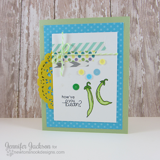 How've you bean vegetable by Jennifer Jackson | Vegetable Medley Stamp set by Newton's Nook Designs