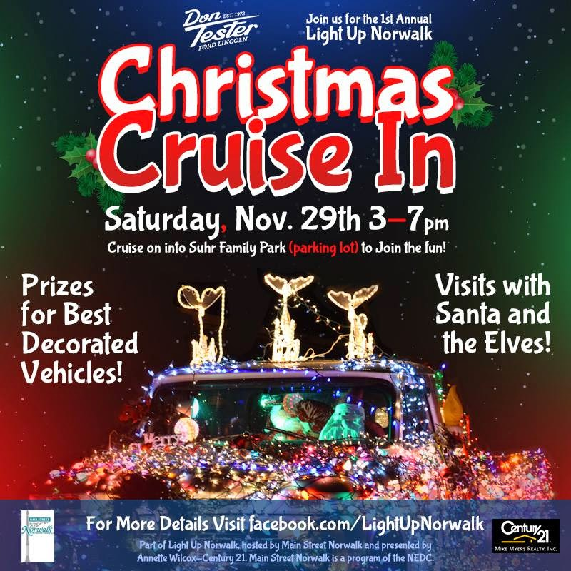 Join Us for the Christmas Cruise In at Light Up Norwalk on November 29th!