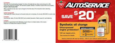 Walmart oil change coupons