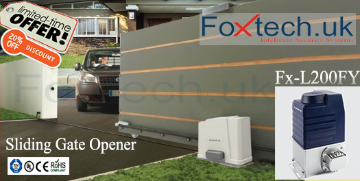Foxtech india 2015 for Sliding gate motor price in india
