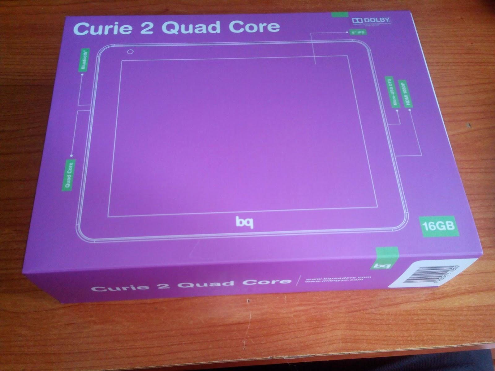 Tablet BQ Curie 2 quadcore caja