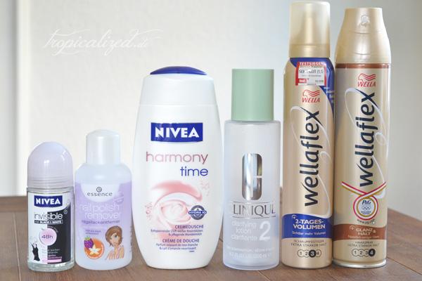 aufgebrauchte Kosmetik Oktober November 2012