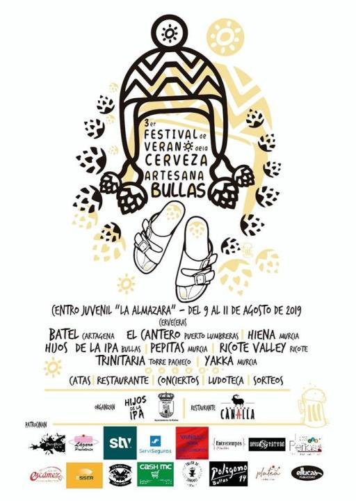 III Edición del Festival de Verano de la Cerveza Artesana de Bullas.