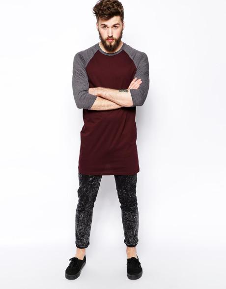 Samara daoud camiseta long tail shirts for Long length long sleeve t shirts
