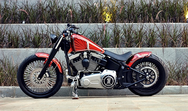 Modifikasi Motor Harley Davidson Softail Fatboy Lo