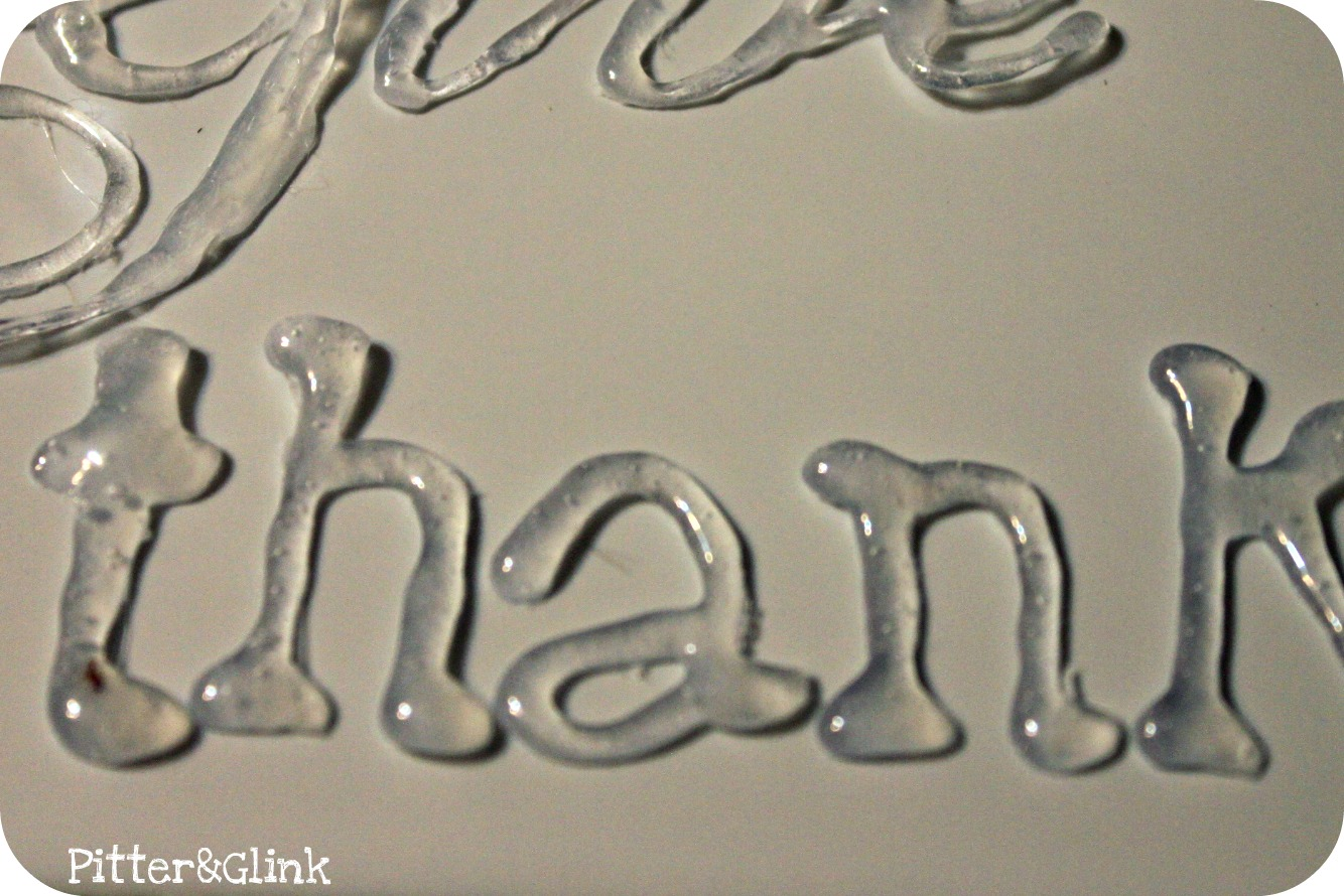 pitterandglink give thanks art With glue on letters