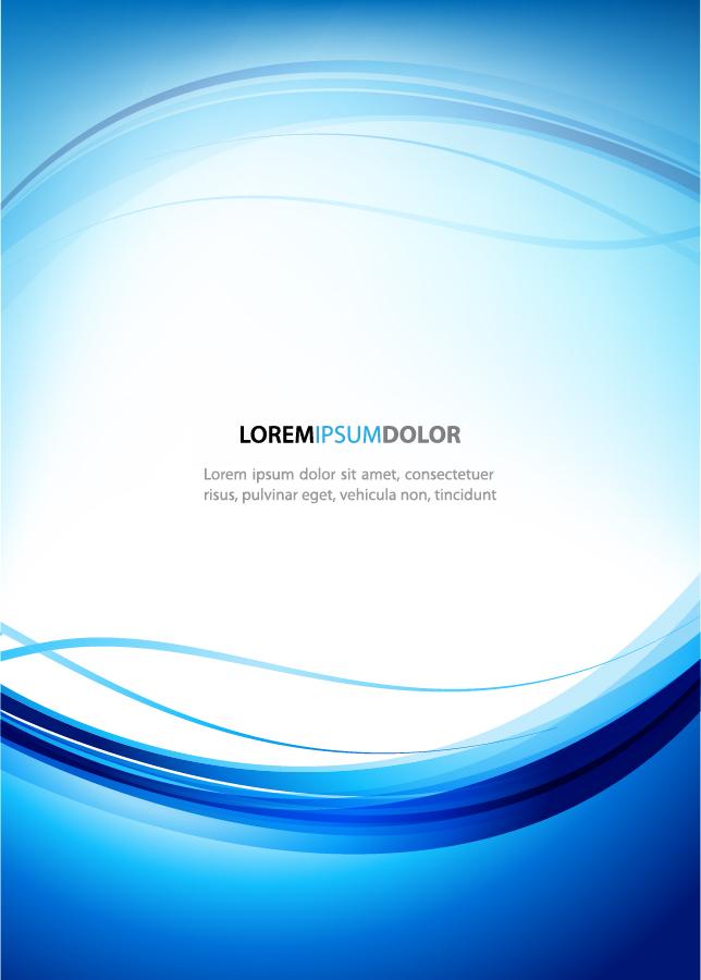 優雅な曲線の背景 dynamic lines of the blue background イラスト素材3