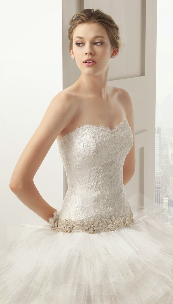 2 Piece Wedding Gown