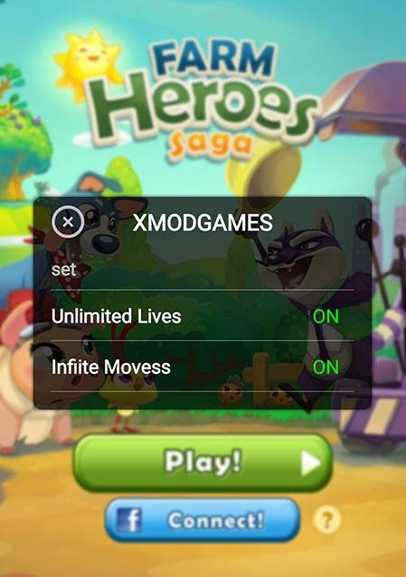 Cheat Farm Heroes Saga dengan XModgames