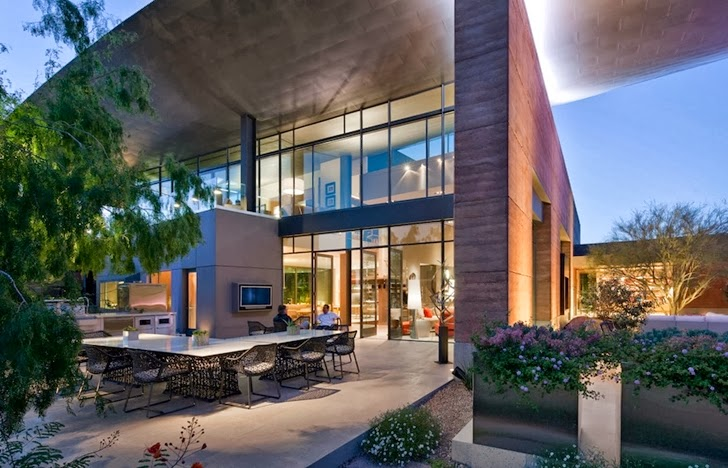 Terrace of Multimillion modern dream home in Las Vegas