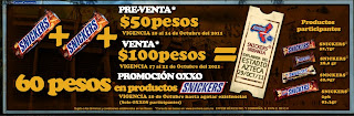 Boletos Snickers Urbania 2011