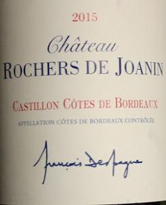 Notre vin de la semaine, un très bon Castillon-Côtes-de-Bordeaux !