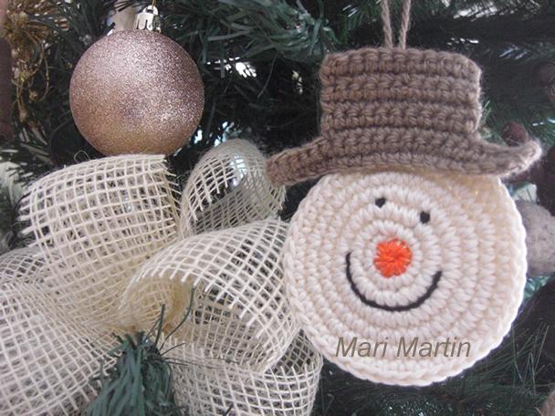 Snowman Crochet Mari Martin