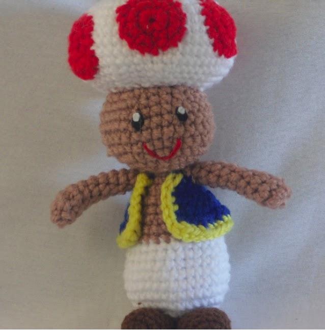 Amigurumi Mario Patron : Patrones Amigurumi Gratis: Patron amigurumi Toad - Mario Bros