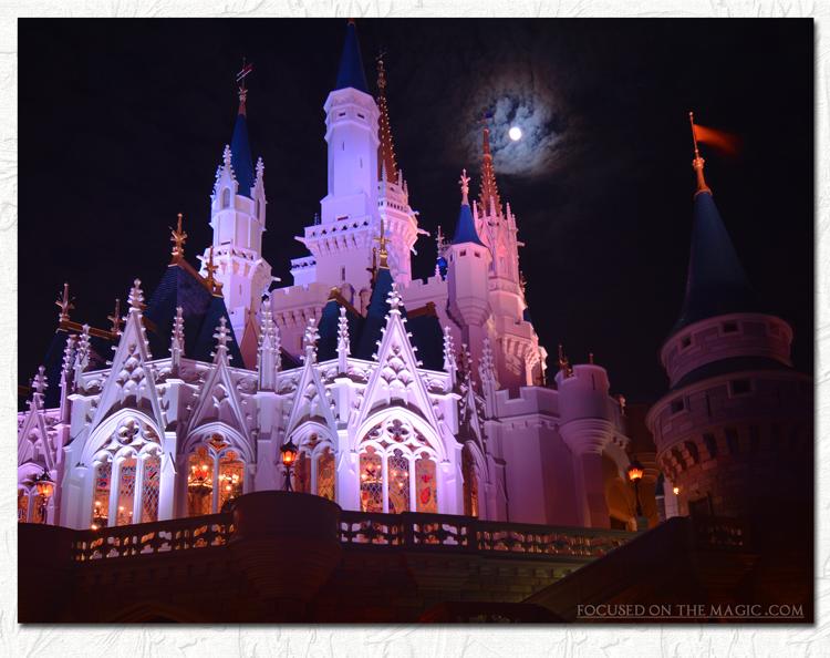 Magic Kingdom night photography Focused on the Magic