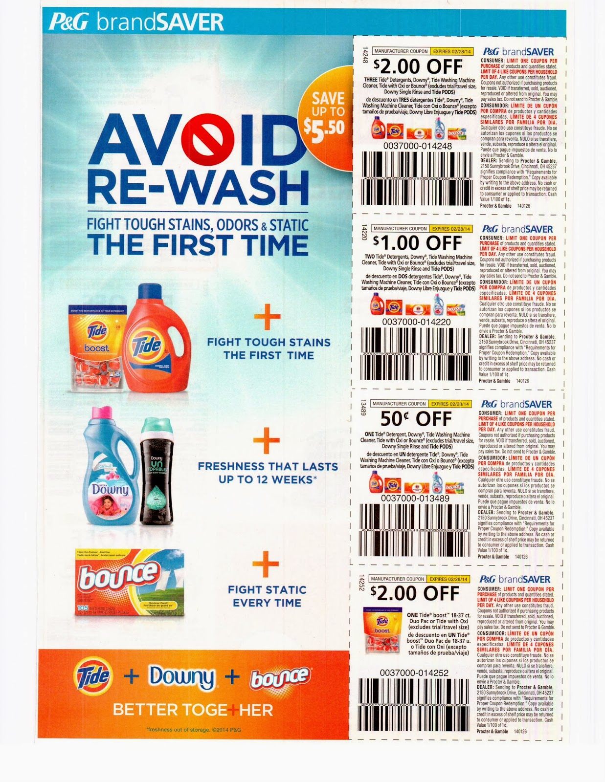 Kayla's Bulk Coupon Inserts: SOLD OUT 01/26/2014 Febuary Proctor and ...
