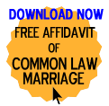 Free Affidavit of Common Law Marriage Form