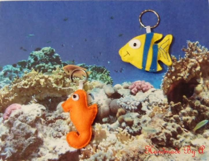 Bajo El Mar Caballito De Mar Y Pez De Fieltro - Pez-de-fieltro