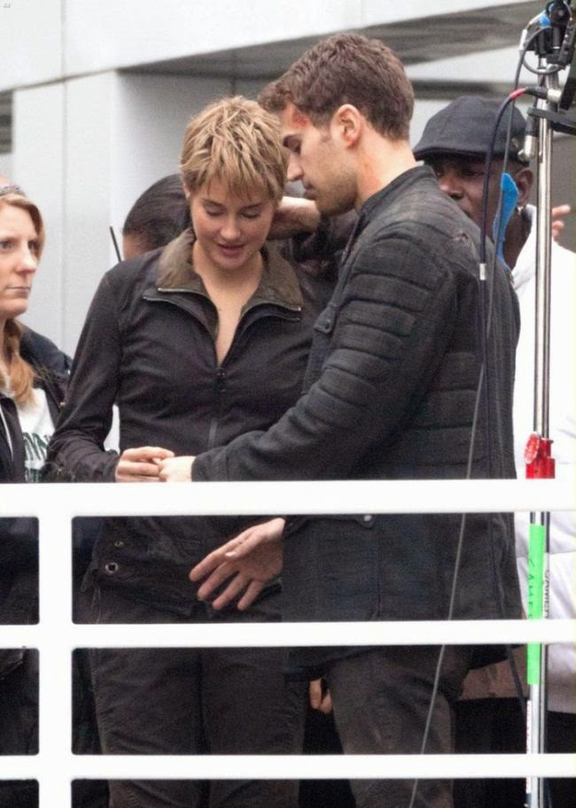 "Back in her skinny jeans! Shailene Woodley slipped into some tight brown vest to final film scene: ""Insurgent"" at Atlanta, GA, USA on Friday, December 19, 2014."