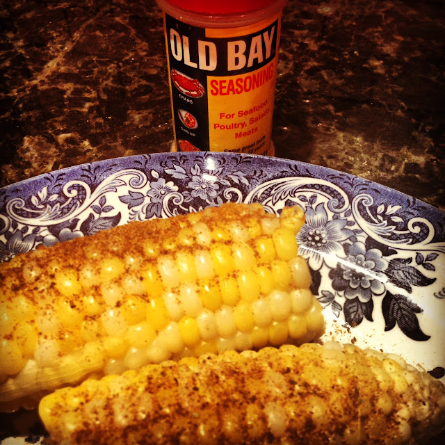 old bay with corn