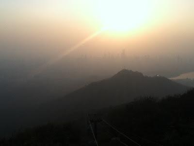 mountain in sunset